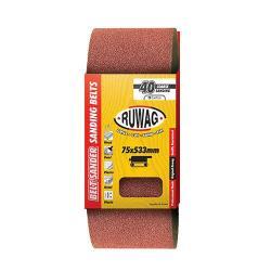 RUWAG P60 Sanding Belt 75 X 533MM 3 Pack