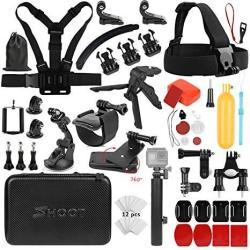 SHOOT 31 In 1 Must Have Accessories Kit With Carrying Case For Gopro Hero 7 Black Silver WHITE 6 5 4 3+ 3 5 Session hero 2018 f