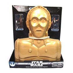 Star Wars C-3PO Carry Case With 2 Star Wars Figures. Holds 30 Figures