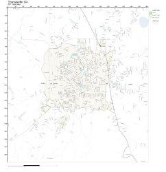 Zip Code Wall Map Of Thomasville Ga Zip Code Map Not Laminated