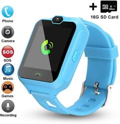 PHRtoy Updated 2019 Version Smart Watch For Kids Include 16GB Micro Sd Card Watch Phone With Camera Games Alarm Sos Touch Screen Nice Gift For Gi