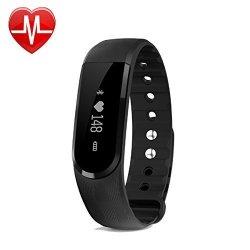 Fitness Tracker Pashion Bluetooth Heart Rate Monitor Watch Step Walking Sleep Counter Wireless Wris