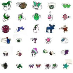 LH1028 30PCS Mixed Mood Rings Classic Temperature Change Color Mood Ring Lovers Adjustable Size 30PCS-1