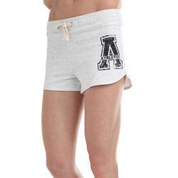 Athletico Large Ladies A-Logo Shorts in Ice Melange & Black