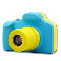 """Kids Digital Full HD MINI Action Camera 5MP With Micro Sd 1.5"""" Display Colour Screen - Blue And Yellow"""