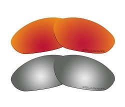 ec392813fb BVANQ 2 Pairs Polarized Replacement Lenses For Oakley Xx old Twenty XX 2000  Sunglasses Red   Black Mirror
