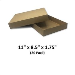 Black Apparel Decorative Gift Boxes 11x8.5x1.75 MagicWater Supply 20 Pack