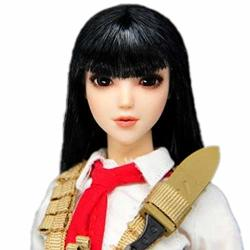 """HiPlay 1 6 Scale Female Figure Head Sculpt Eye Movable Type Asian Beuty Charming Girl Doll Head For 12"""" Action Figure Phicen Tbleague Obitsu HP053 A"""