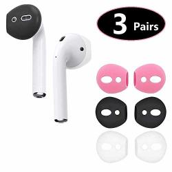 Bllq Airpods Ear Tips Ear Gels Anti-slip Earuds Cover Silicone Compatible With Airpods 2 & Airpods 1 Or Earpods ? Fit In The Cha