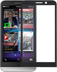 Replacement Parts Guohui Front Screen Outer Glass Lens For Blackberry Z3 Black Phone Parts Color : Black