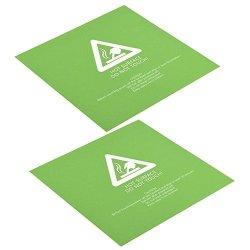 Yosoo- 2PCS 3D Printer Accessory Hot Bed Platform Sticker Build Surface Scrub Green 300300