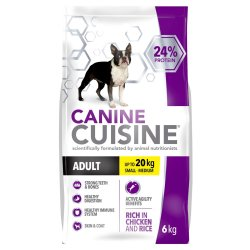 CANINECUSAINE - Small Adult Chicken And Rice 6KG