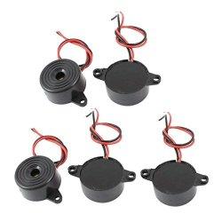 URBEST 10PCS Dc 3-24V 85DB Industrial Continuous Sound Electronic Buzzer Alarm Black Plastic Shell 23 X 12MM