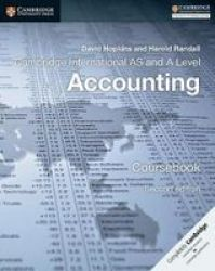 Cambridge International As And A Level Accounting Coursebook Paperback 2ND Revised Edition