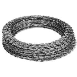 Tidyard Razor Wire Galvanized Barbed Wire Outdoor Razor Wire Helical Wire Roll Galvanized Steel 197'