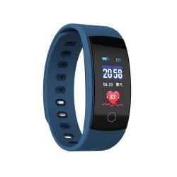 QS80 Plus 0.96 Inches Tft Color Screen Smart Bracelet IP67 Waterproof Support Call Reminder heart Rate Monitoring sleep Monitoring blood Pressure Monitoring sedentary Reminder Blue