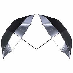 MOUNTDOG 2 X 33 Double Layer Black silver Photo Studio Photography Reflector Umbrella Softbox For Photo And Video Studio Shootin