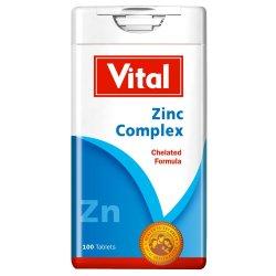Vital - Zinc Complex Chelated Formula Tablets 100'S