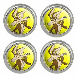 Looney Tunes Wile E Coyote Metal Craft Sewing Novelty Buttons - Set Of 4