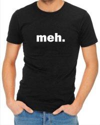 Mens Meh T-Shirt Black Medium