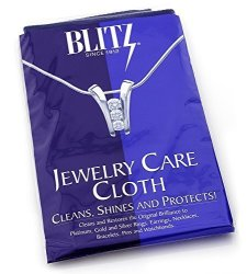 """Blitz Extra Large 2-PLY Jewelry Care Cloth Used By Professionals Cleans Shines And Protects For Gold Silver And Platinum. 12""""X15"""