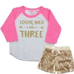 Bump And Beyond Designs Three Year Old Birthday Girl Outfit 2T