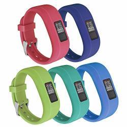 Jobese Bands Compatible With Vivofit 3 vivofit Jr vivofit JR.2 Colorful Soft Silicone Replacement Wristbands With Secure Watch Clasp Men Women Kids
