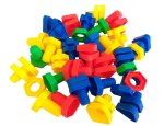 Educational Building Blocks Type 4- Bolts And Nuts 55 Pieces