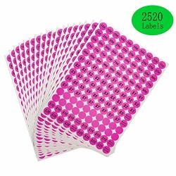 Anronal 2520 Count Garage Pricing Stickers Removable Yard Labels With Prices 3 4 Round Preprinted Pricing Labels Price Stickers Pink