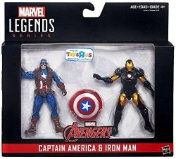 Marvel Legends Captain America: Civil War Captain America And Iron Man Action Figures 3.75 Inches