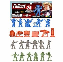 Fallout Nanoforce Series 1 Army Builder Figure Collection - Deluxe Bagged Set 2 Vault Boy Nuka Cola Special Edition Collectible Gaming Figures  