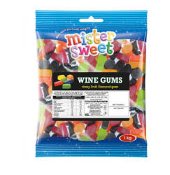 Mister Sweet Gums & Jellies Wine Gums 1 X 1kg