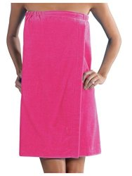 SPA Womens Wrap Terry Cotton Wraps Hot Pink One Size