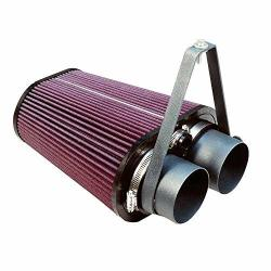 S&B Filters 75-2503 Cold Air Intake For 1988-1995 Ford F150 F250 F350 Bronco V6 4.9L V8 5.0 5.8 7.5L Oiled Cleanable 8-PLY