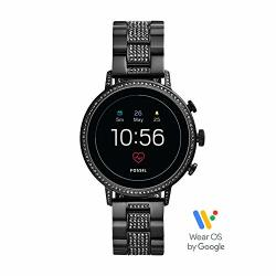 Women's Fossil Gen 4 Venture Hr Heart Rate Stainless Steel Touchscreen Smartwatch Color: Black FTW6023