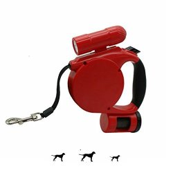 Changsha Hangang Technology Ltd Hangang 3 In 1 Retractable Dog Leash With LED Light + Bag Dispenser - These Durable Thick & Adjustable 15 Foot Leashes Are The