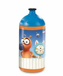 Nici 45443 Sportsbottle Pat The Dog 0 5L Orange blue