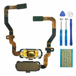 E-yiiviil Replacement Home Button Flex Cable Menu Key Fingerprint Sensor For Samsung Galaxy S7 G930A G930T G930P G930V G930R4 G930AZ G930T1 G930R6 G930R7 Gold