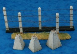 Alliance Model Works 1:35 Concrete Poles Barbed Wire Dragon Teeth LW35044
