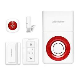 CoastaCloud Smart Alarm System Whole-home Security Kit Wireless GSM Security Alarm Siren With Alarm Host Infrared Motion Door Wi