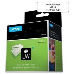 Dymo 30320 - Address Labels 1-1 8 X 3-1 2 White 520 BOX By