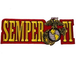Honor United States Us Marine Corps Semper Fi Iron Or Sew On Embroidered Shoulder Patch