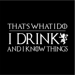 I Drink And Know Things Long Sleeve T-Shirt Black