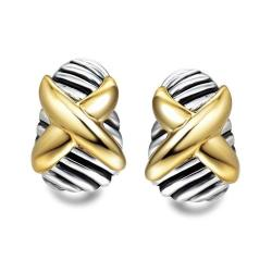Dongguan City You Ni Jewelry Corp Ltd Uny Earring Cross Designer Inspired David Jewelry Antique Brand French Clip Twisted Cable
