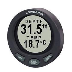Lowrance LST-3800 2-1 8 Inch In-dash Depth And Temperature Gauge With 200KHZ Transom Mount Transducer