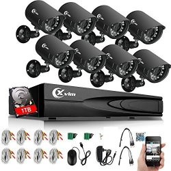 8pcs 1080... Security Camera System 1080P,Safevant 8CH DVR Home Security System