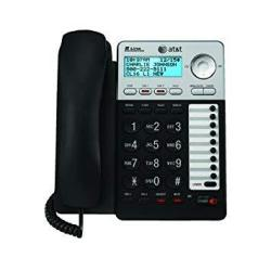 At&t 993 2-LINE Phone W caller Id Charcoal