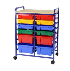 Greenbean Multi-coloured Classroom And Household Storage Unit - 12 Bins