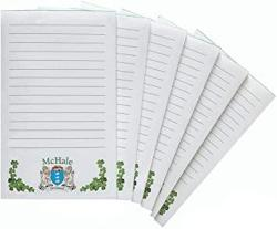 USA Mchale Irish Coat Of Arms Notepads - Set Of 6