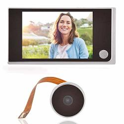 "3.5""LCD HD Screen Peephole Viewer Digital Door Eye Viewer Camera 720P Image Resolution 120 Degree Wide Angle Home Security System"